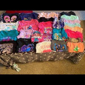 Lot of 25 4T Girls Shirts